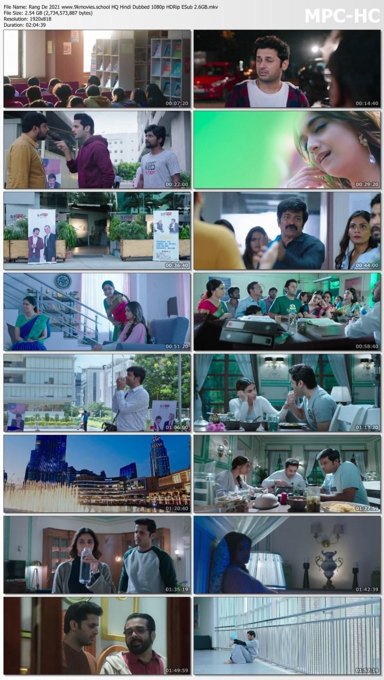 Download Rang De 2021 HQ Hindi Dubbed 1080p HDRip ESub 2.6GB