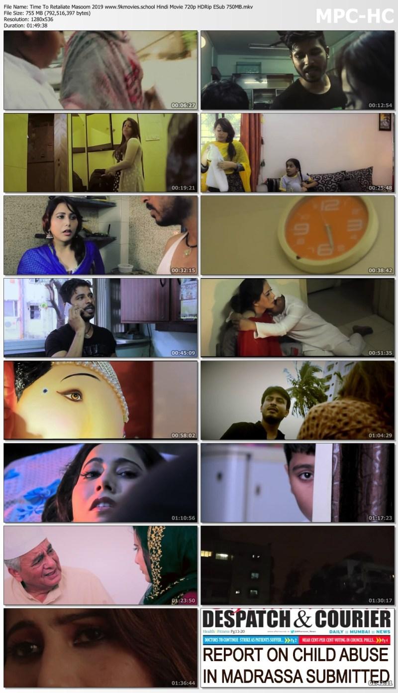 Download Time To Retaliate Masoom 2019 Hindi Movie 720p HDRip ESub 750MB
