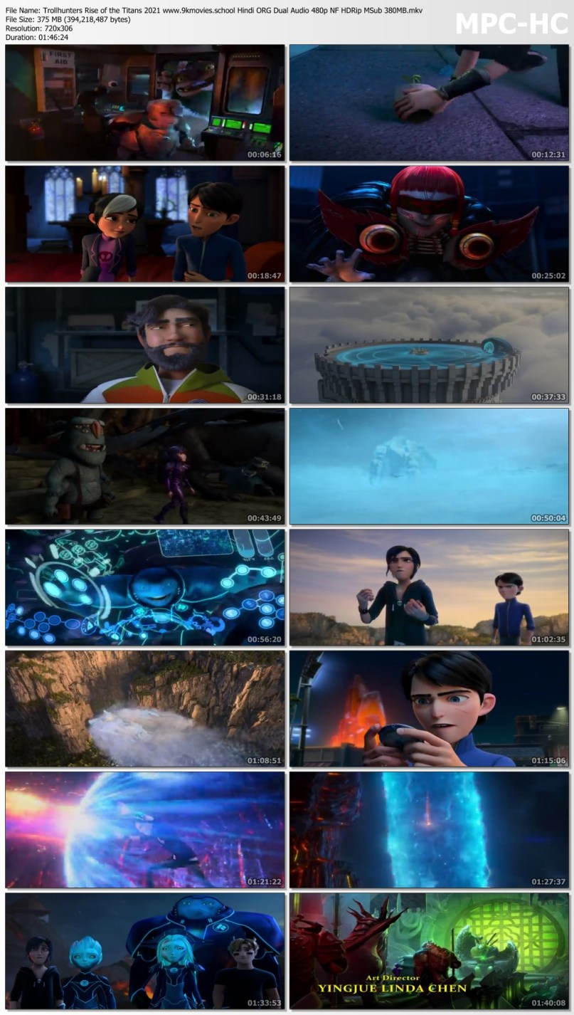 Download Trollhunters Rise of the Titans 2021 Hindi ORG Dual Audio 480p NF HDRip MSub 380MB