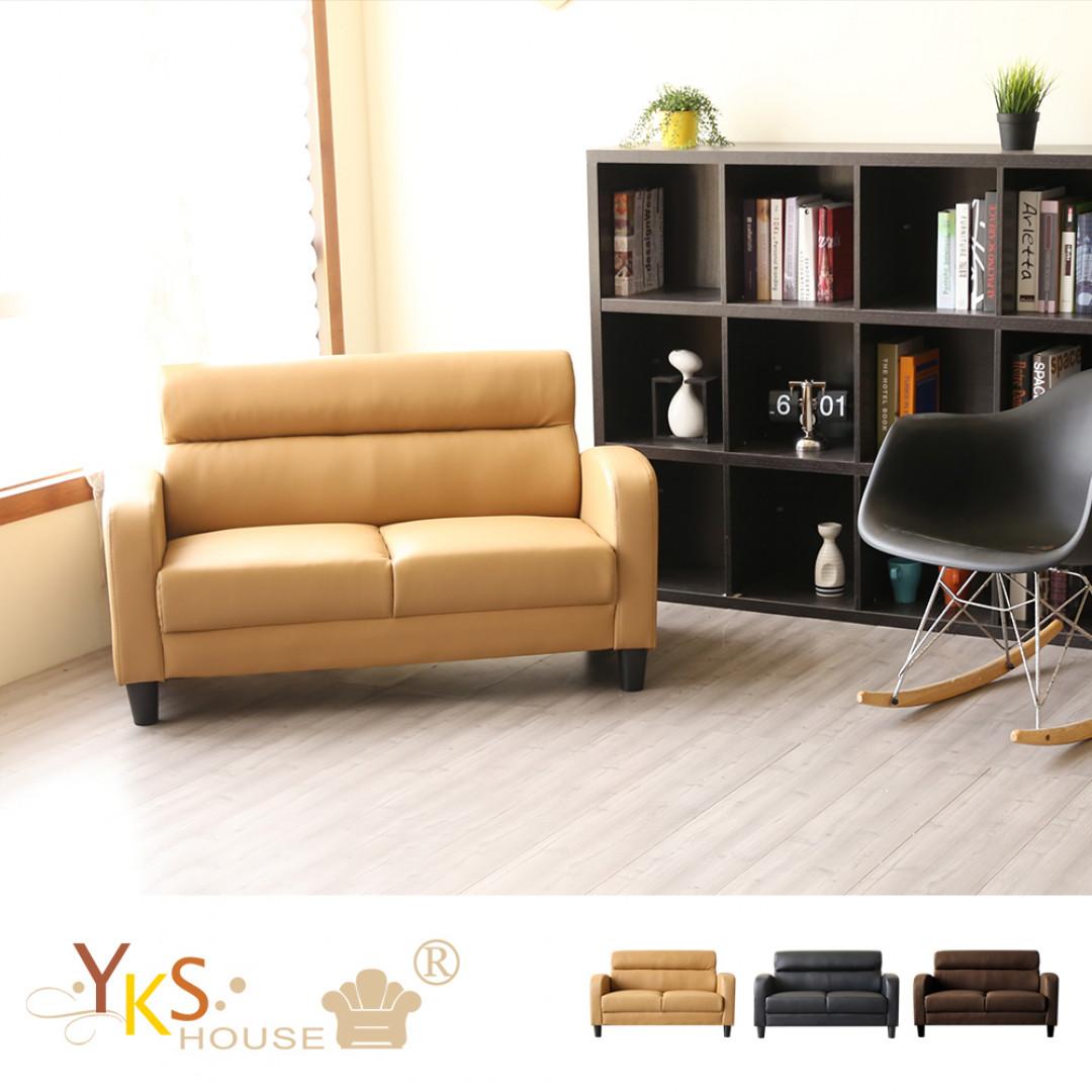 YKS-巴斯二人座皮沙發(三色可選):YKS沙發家具居家販售中心