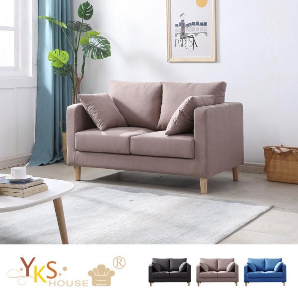 YKS-廣島二人座布沙發-獨立筒版(三色可選):YKS沙發家具居家販售中心