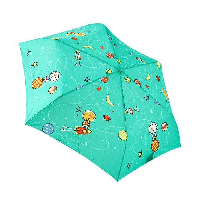 RAINSTORY火箭狗狗(青)抗UV手開輕細口紅傘:rainstory
