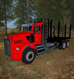 kenworth t800 log trucks v 1 0 [ 1200 x 675 Pixel ]