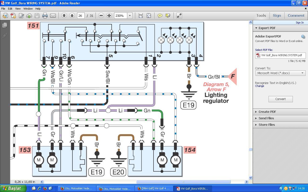 vw golf mk4 tow bar wiring diagram start stop motor control 4 power mirrors folding 43 remote