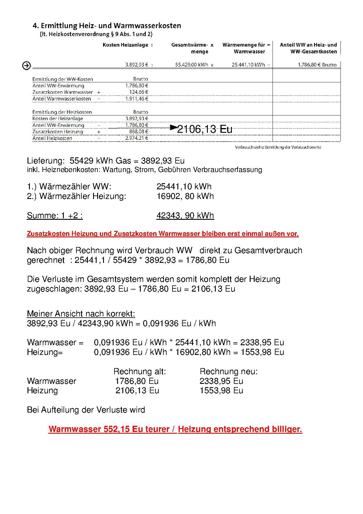 Abrechnung Wärmezähler Heizung/ Warmwasser - Haustechnikdialog