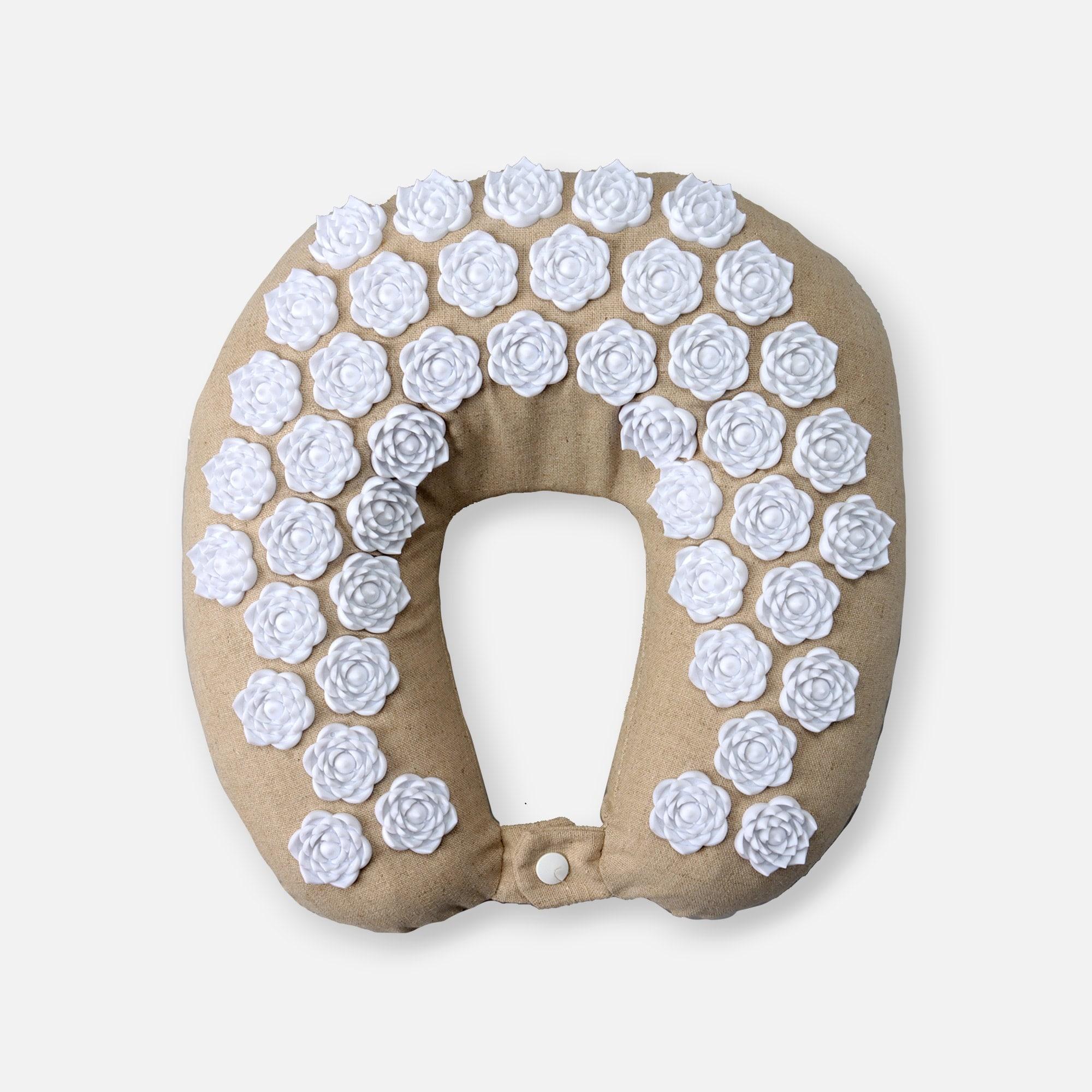 kanjo memory foam acupressure neck pillow