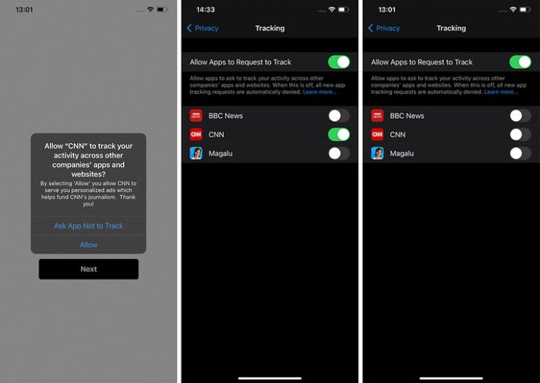 Apple ATT iOS Allow Apps to request to track