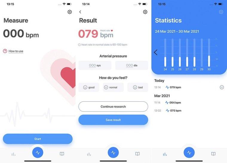Heart rate app iOS Apple
