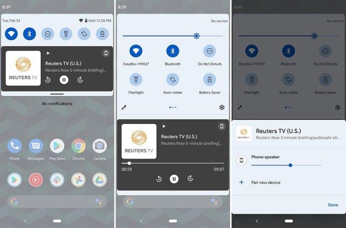 Media UI Android 12