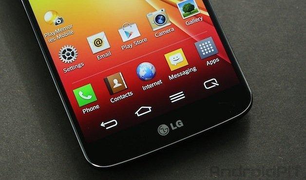 Передние кнопки LG G2