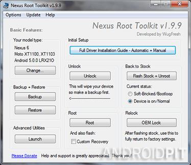 Установка Nexus racine toolkit