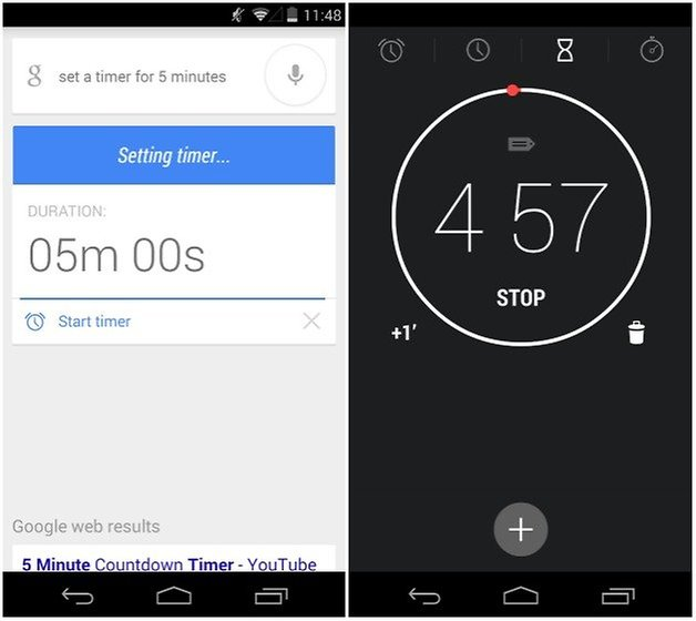 androidpit google now таймер
