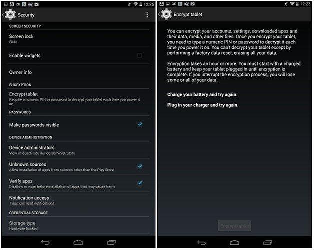 androidpit nexus 7 шифрование