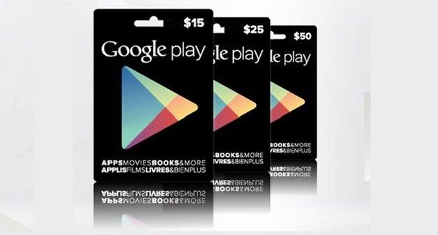 подарочные карты google play