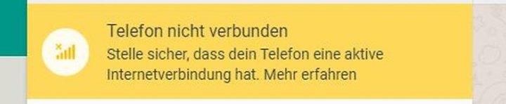 whatsapp web telefon nicht verbunden