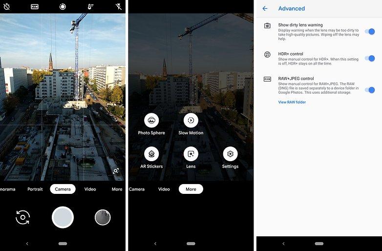 Примеры apk камеры Google Pixel 3 ap 01