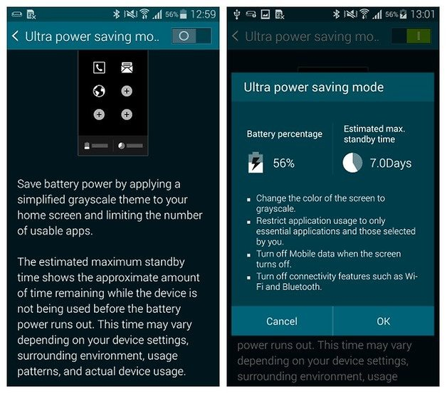 AndroidPIT Galaxy S5 Энергосбережение