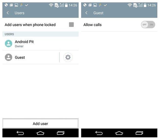 AndroidPIT LG G3 Android 5 0 Lollipop для вызовов в гостевом режиме