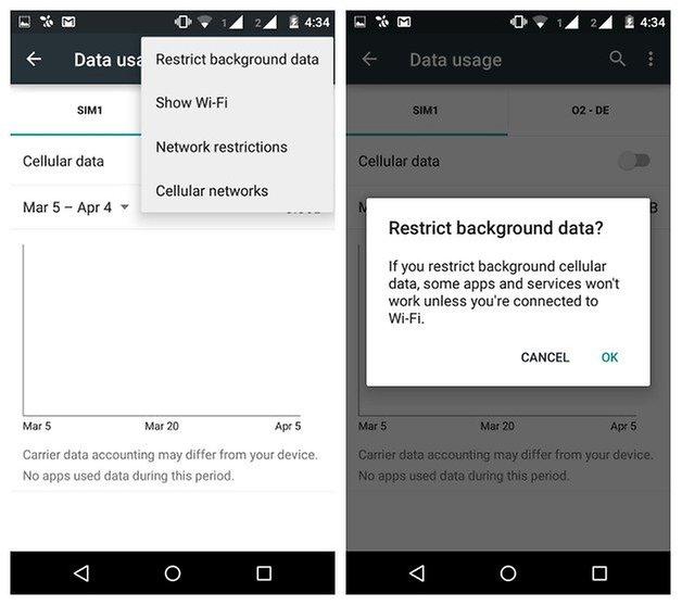 Аккумулятор AndroidPIT Moto G 2014 ограничивает фоновые данные