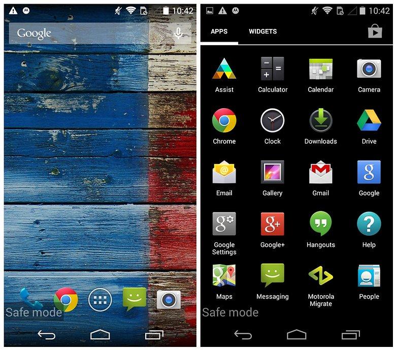 AndroidPIT Moto X проблемы безопасный режим