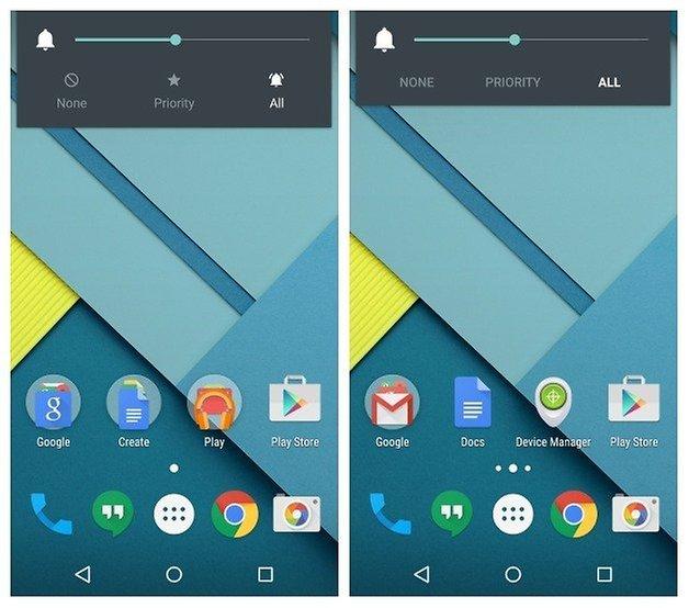 AndroidPIT Nexus 5 Android 5 1 Значки звукового виджета Lollipop