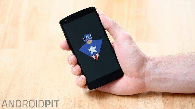 Загрузочная анимация AndroidPIT Nexus 5 капитан америка