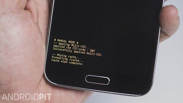 Раздел кеша AndroidPIT Samsung Galaxy S5 очищен