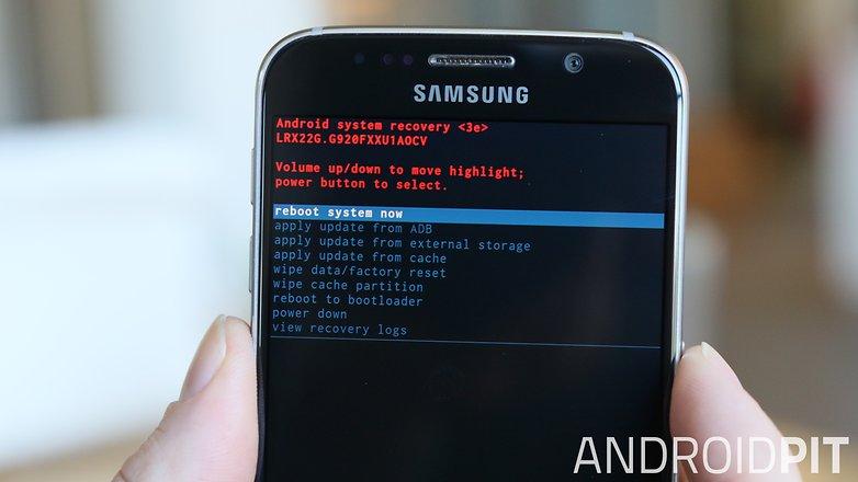 AndroidPIT Samsung Galaxy S6 recovery mode система перезагрузки