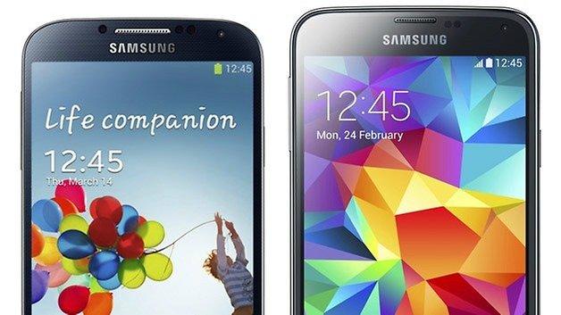 AndroidPIT Samsung galaxy s4 s5: сравнение урожая