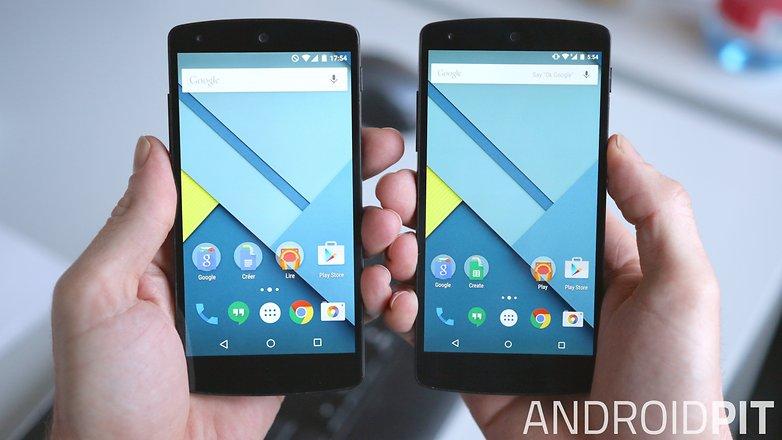 AndroidPIT сравнение экранов Google Nexus 5