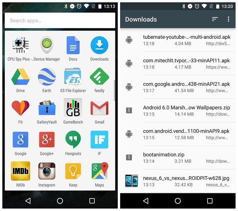 Загрузка ящика приложений AndroidPIT Nexus 5 Android M