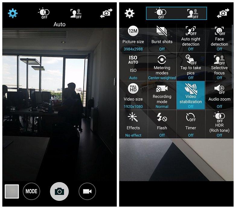 AndroidPIT Samsung Galaxy S5 стабилизация видео камеры