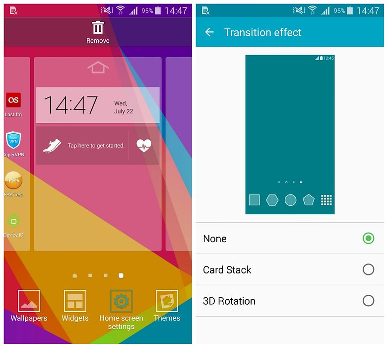 AndroidPIT Samsung Galaxy S5 TouchWiz: эффект перехода на домашний экран