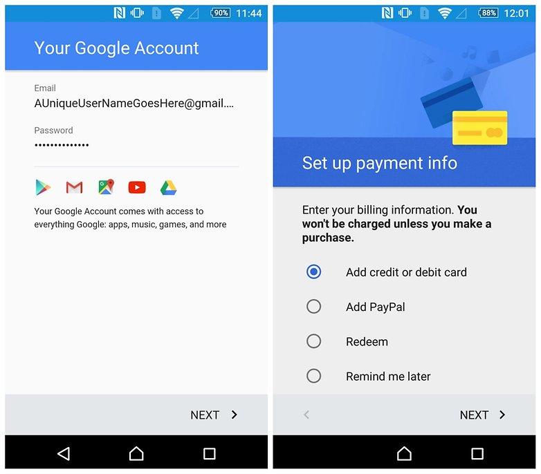 AndroidPIT Создать новую сводную кредитную карту аккаунта Google