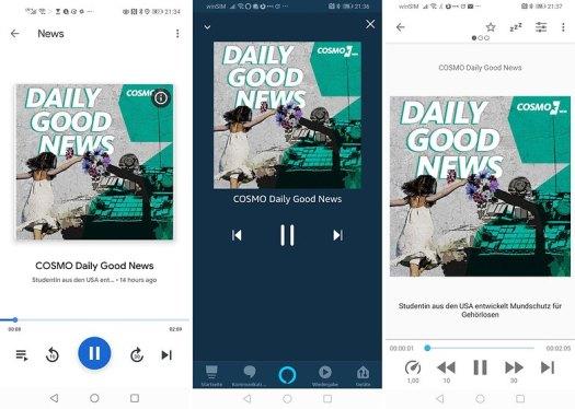 podcast player google amazon antennapod