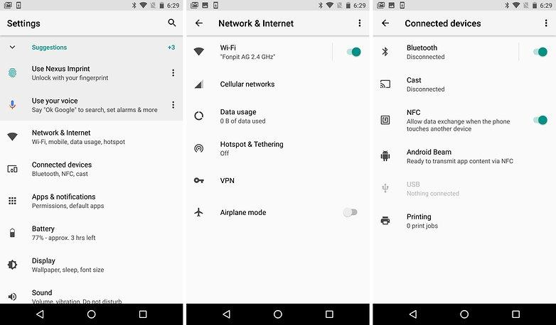 android o settings