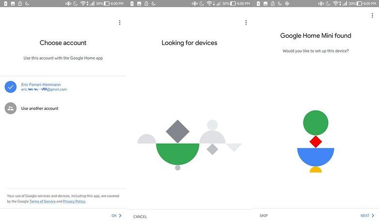 google home mini setup 1