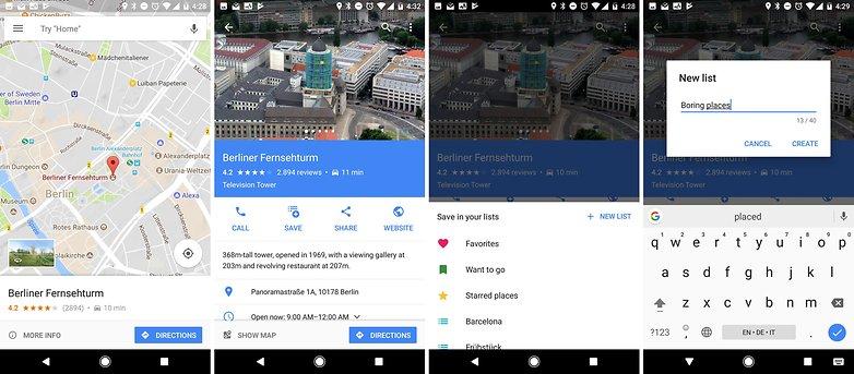 Карты Google составляют новый список