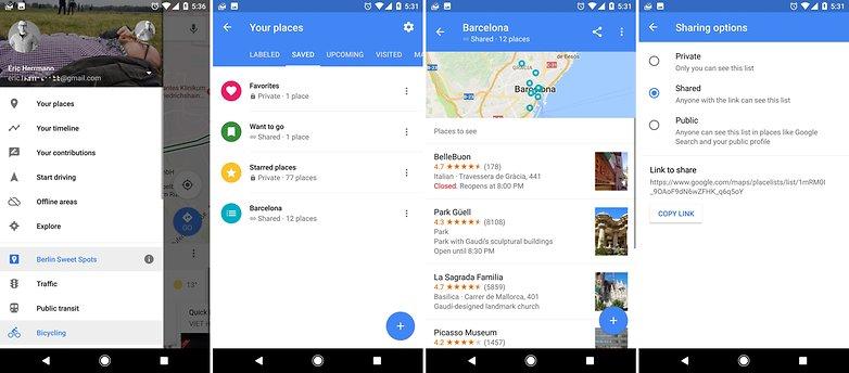 места на картах Google
