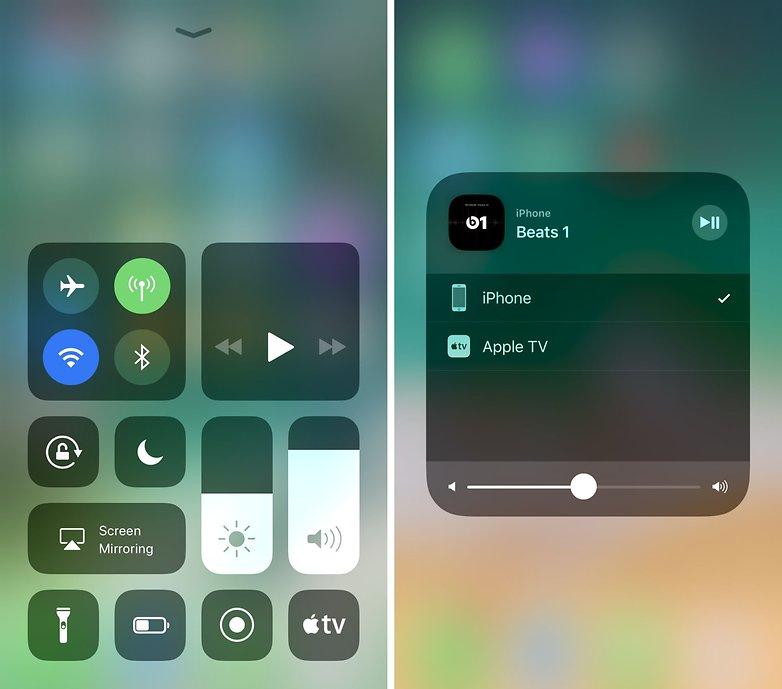 центр управления iOS AirPlay