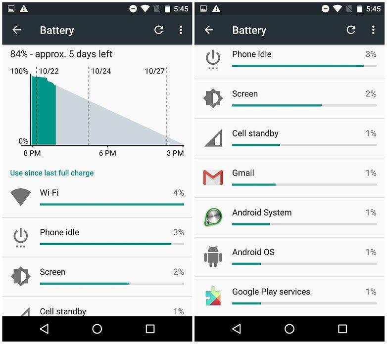 androidpit nexus 5 конец дня 2 разряда батареи