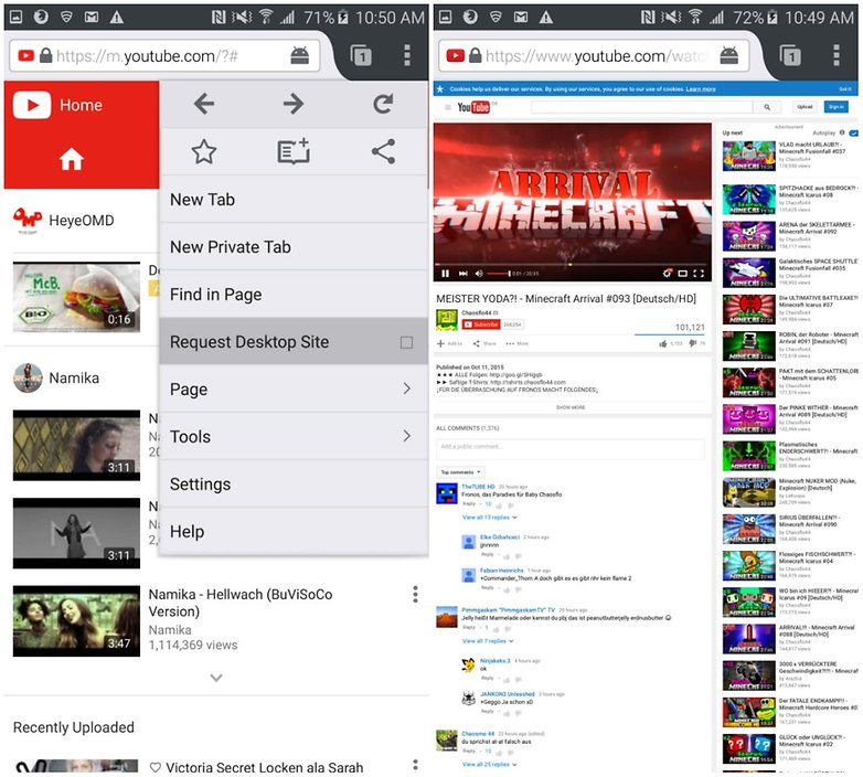 Escuchar música en youtube con la pantalla bloqueada