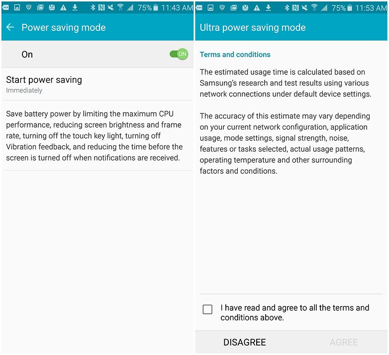 androidpit samsung galaxy note 5 батареи советы энергосбережение