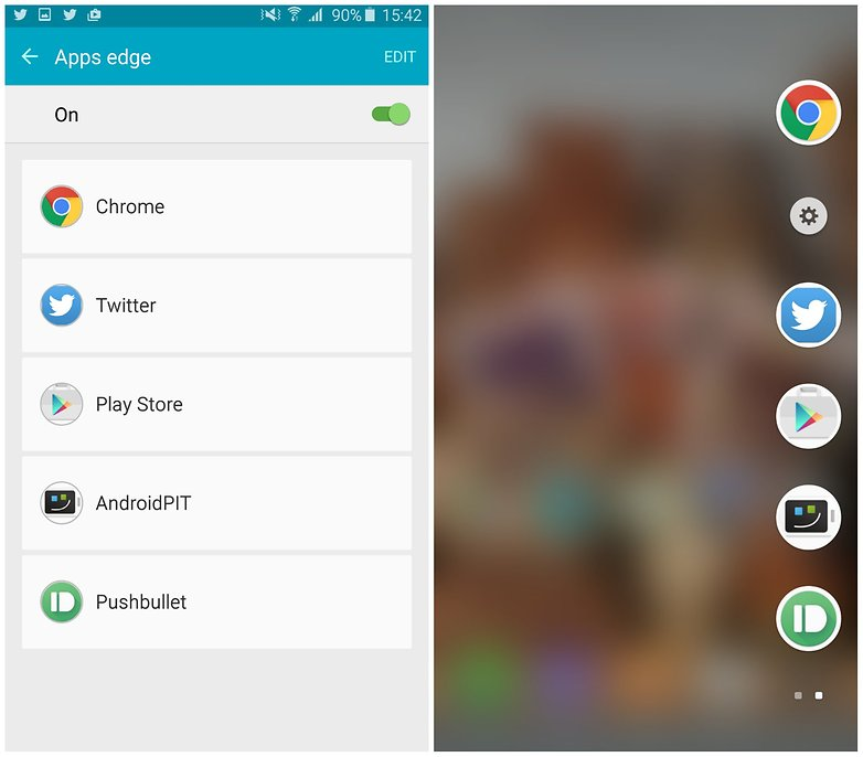 AndroidPit Samsung Galaxy S6 Edge Plus Приложения Edge