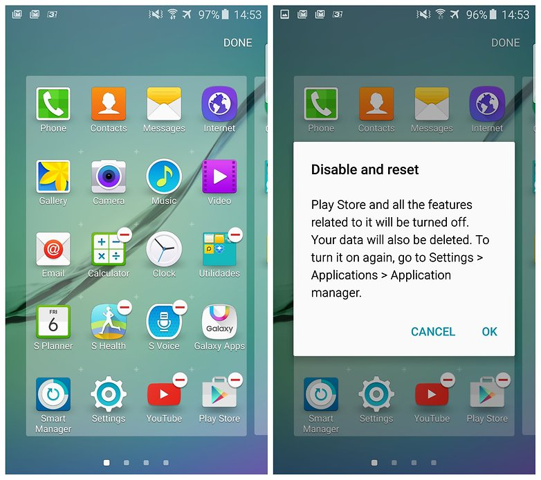 androidpit samsung galaxy s6 edge отключить приложения