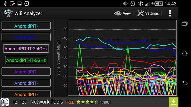скриншот анализатора Wi-Fi androidpit