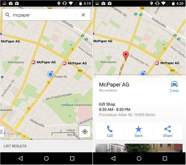 androidpit nexus 5 maps скриншот