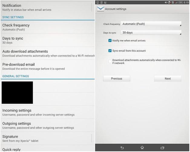 androidpit xperia z3 tablet compact уведомления по электронной почте