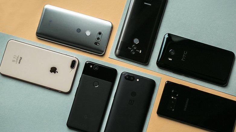 AndroidPIT LG V30 iPhone 8 плюс Galaxy Note 8 One Plus 5T HTC U11 Google Pixel 2 Huawei Mate 10Pro 5630