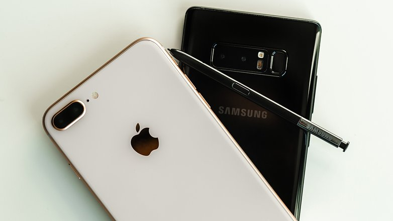 AndroidPIT iPhone 8 Plus против Samsung Galaxy Note 8 3396